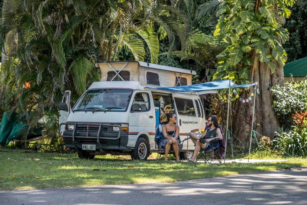 Acampando en el norte tropical de Australia