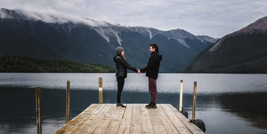 Lago en Nueva Zelanda