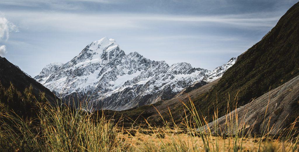 Aoraki Mount Cook en Nueva Zelanda