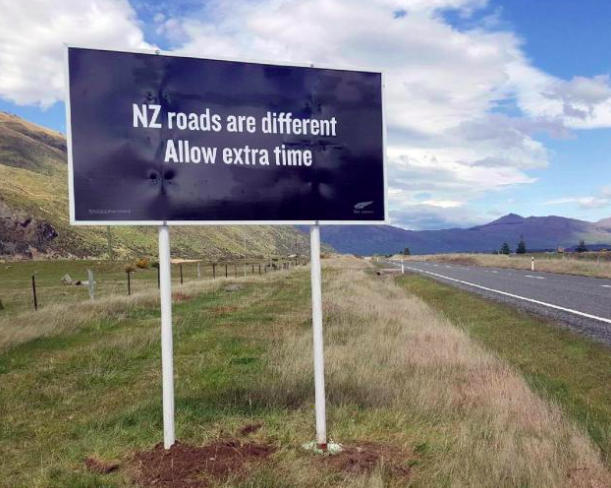new zealand roads are differente