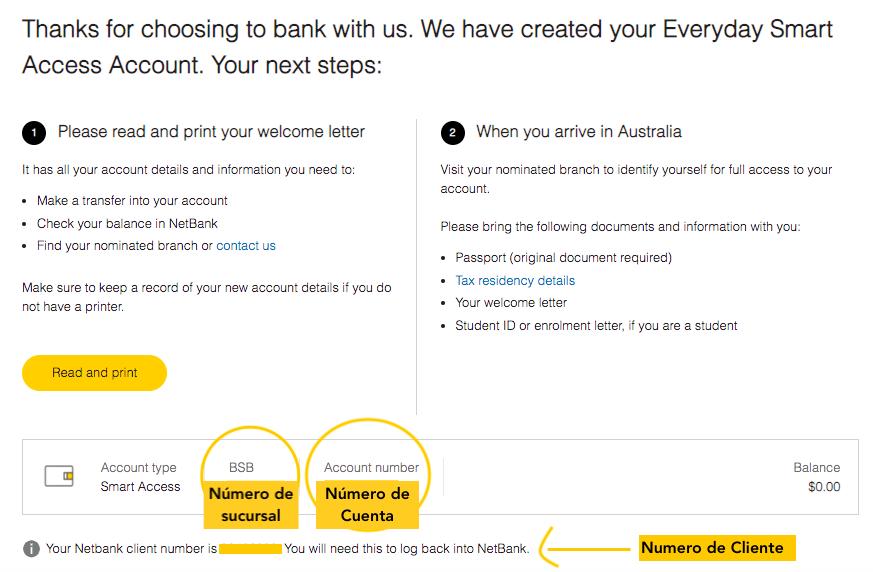 como abrir una cuenta de banco en Australia