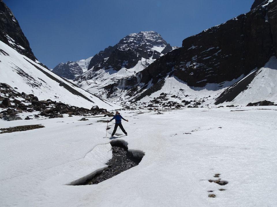 Glaciar La Paloma en Santiago de Chile