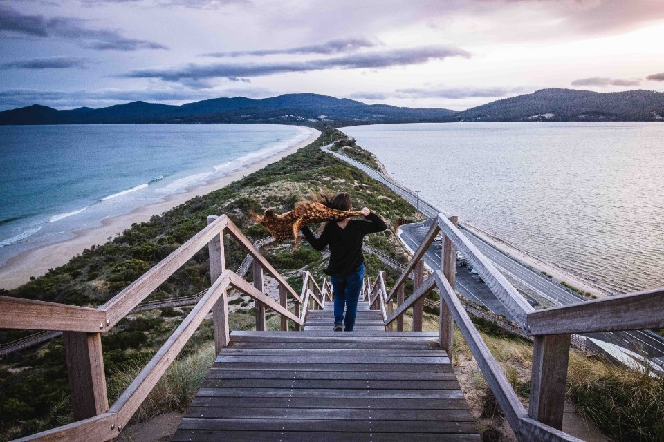 mirador The Neck en Bruny Island