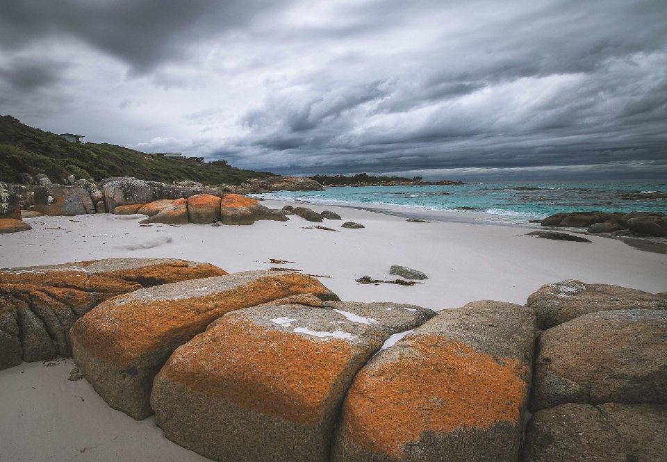 bay of fires en el norte de tasmania
