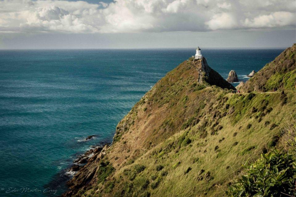 Islotes Nugget Point en Nueva Zelanda
