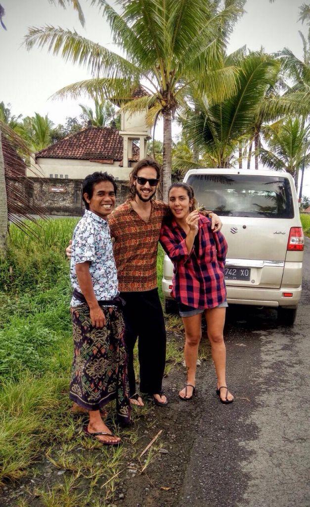 recorriendo las terrazas de arroz con tiko en Bali