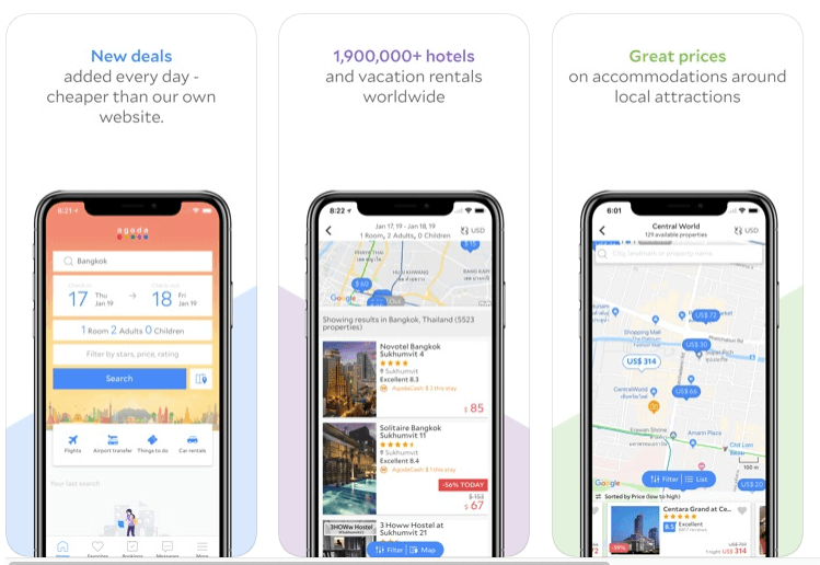 apps de viajes agoda para alojamiento