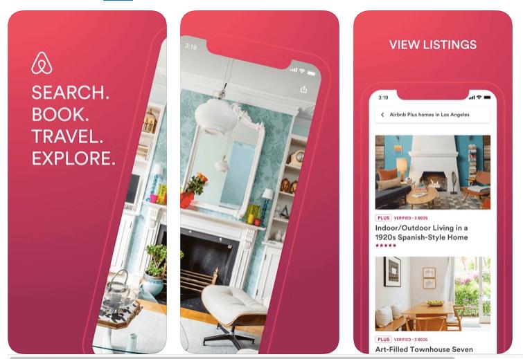 apps de viajes airbnb para alojamieto