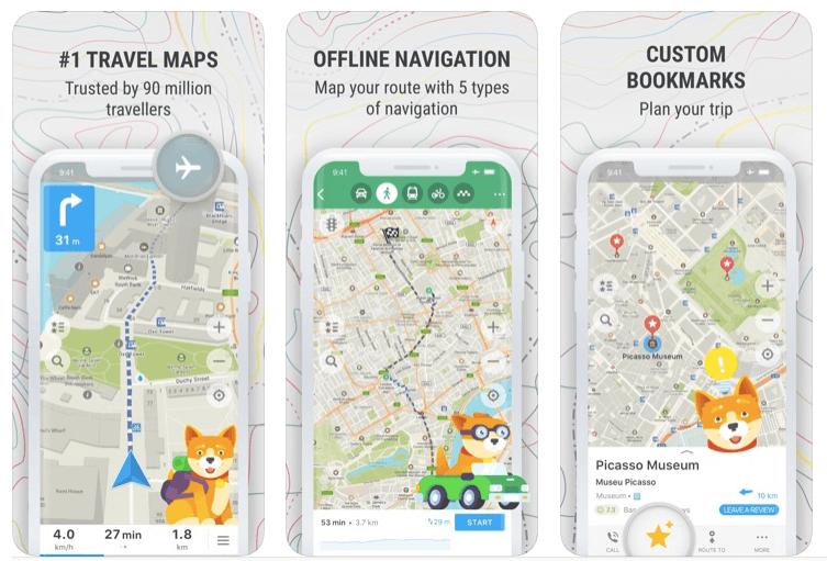 apps de viajes maps.me