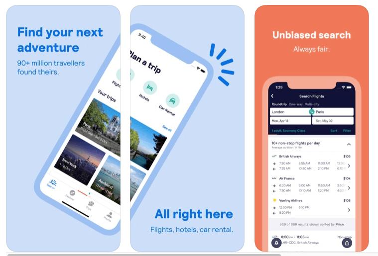 apps de viajes skyscanner