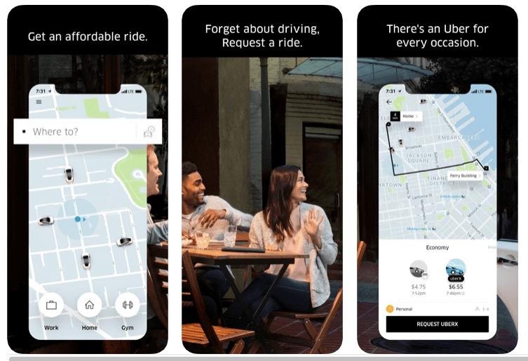 apps de viajes uber para moverse