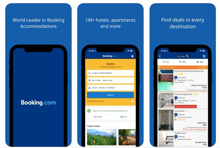 apps de viajes booking.com para alojamiento