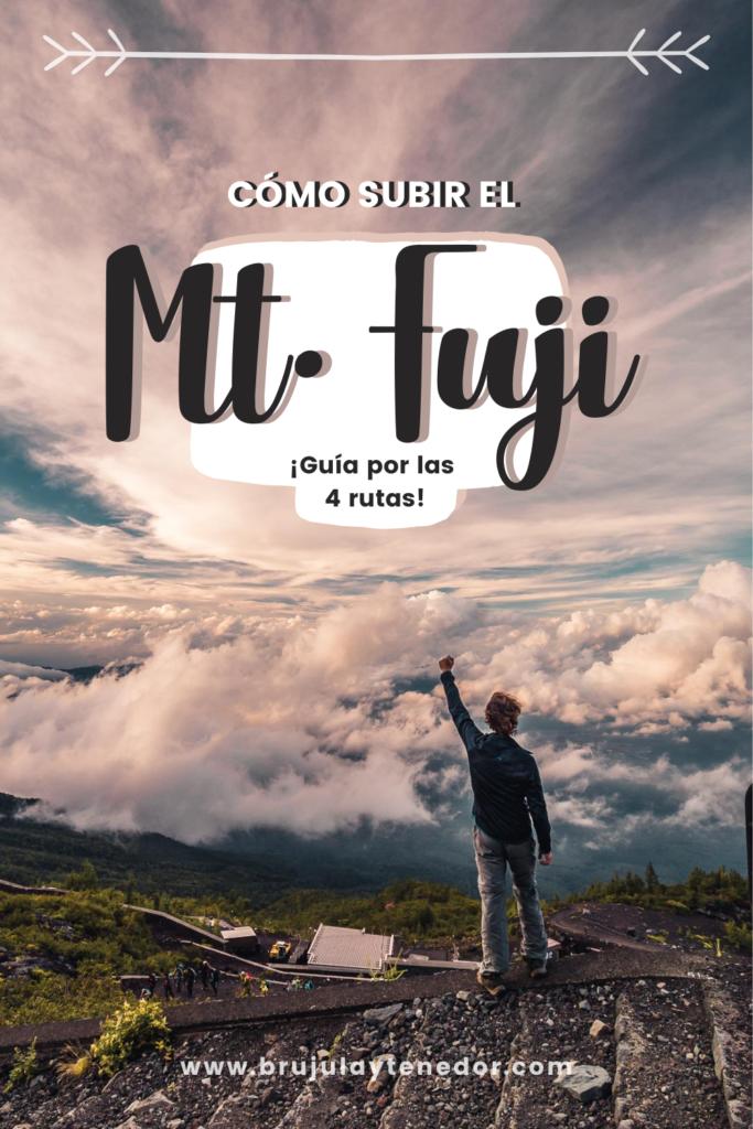 guia para subir el monte fuji pinterest