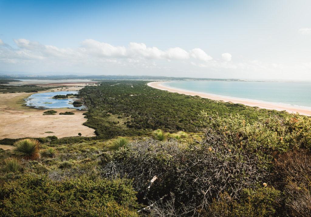 playa de narawntapu en Tasmania, australia