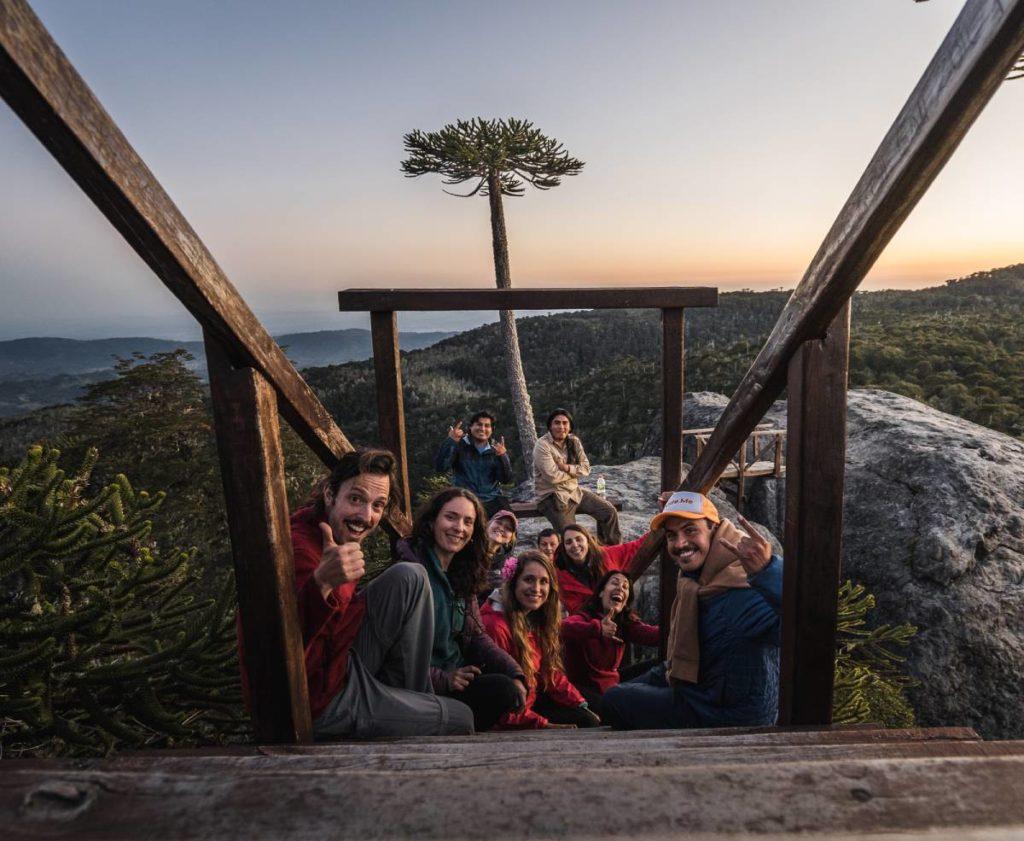 todos el grupo en el parque nacional nahuelbuta - Piedra del Aguila cosas que hacer en arauco