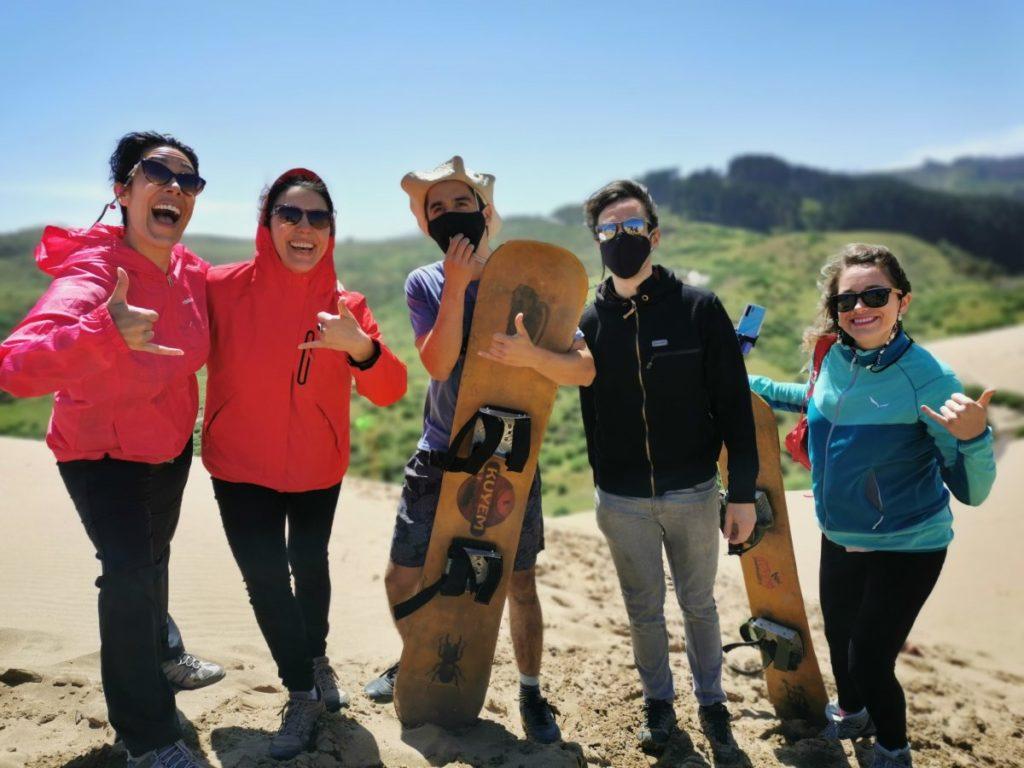 que hacer en Arauco sandoard en dunas de Yani