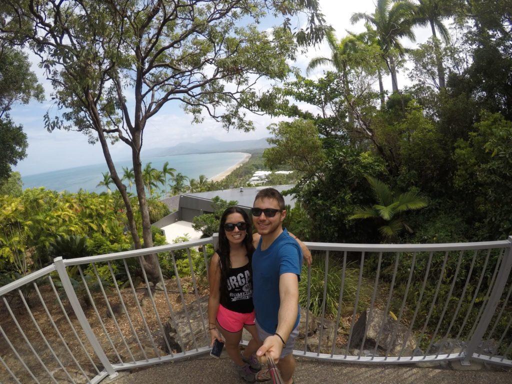 Tami y su novio Steffan en Port Douglas, Australia