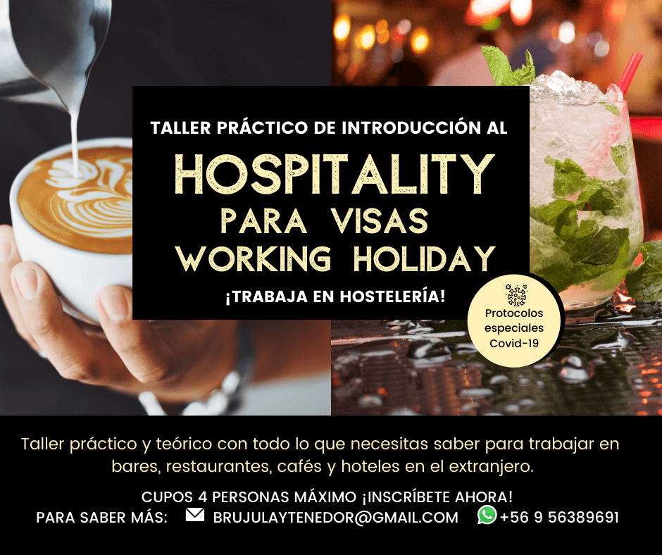 taller de hospitality para visas working holiday