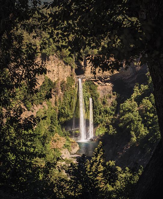 Cascadas en parque nacional siete tazas