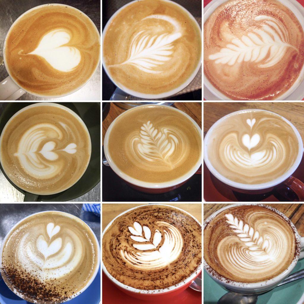 la evolucion de mis cafés al trabajar de barista en Australia