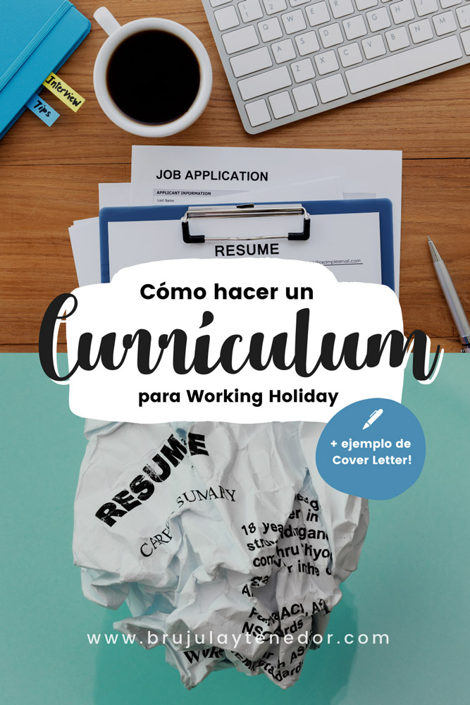 como hacer un curriculum para working holiday en ingles
