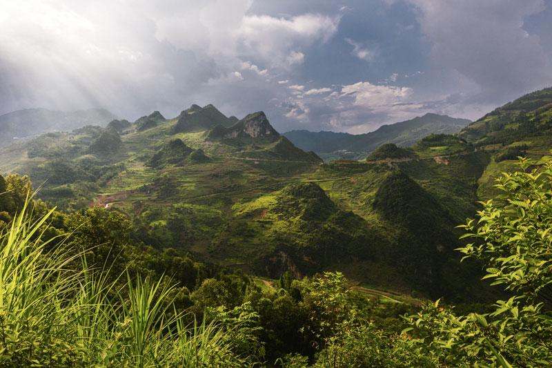 paisajes de montaña en el norte de vietnam