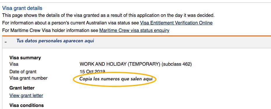 formulario de postulacionwaiver working holiday australia