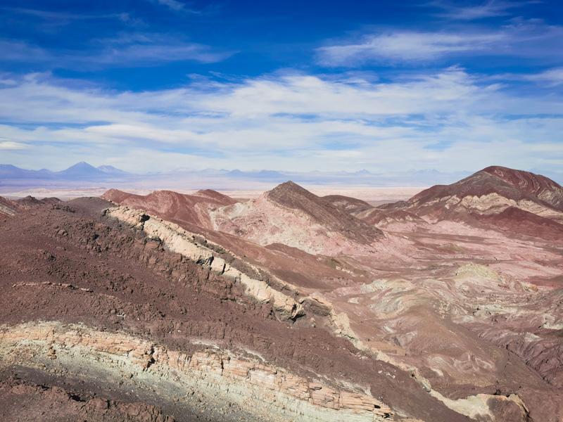 Colores de la montaña en San Pedro de Atacama